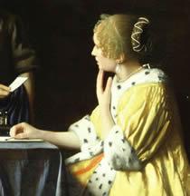 Mistress and Maid (detail), Johannes Vermeer