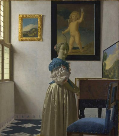 A Lady Standing at a Virginal, Johannes Vermeer