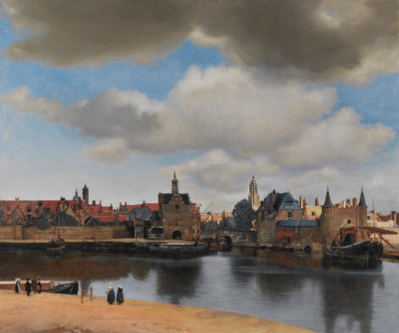 View of Delft, Johannes Vermeer