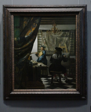 Johannes Vermeer's Art of Painting with frame
