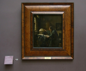 Johannes Vermeer's Astronomer with frame