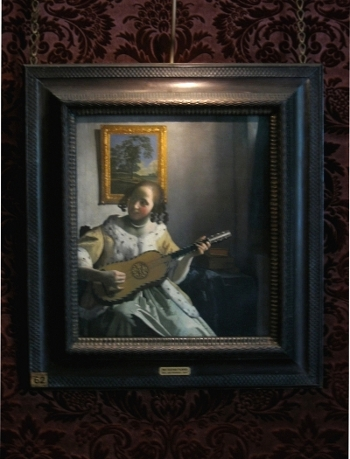 Johannes Vermeer's Guitar Player with frame