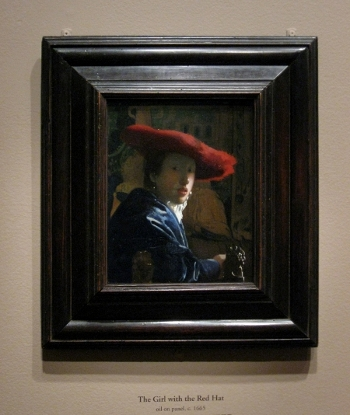 Johannes Vermeer's Girl with a Red Hat in scale