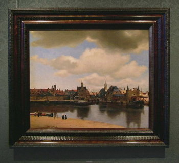 Johannes Vermeer's View of Delft with frame