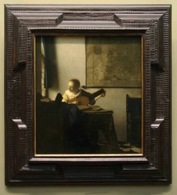 Woman with a Lutel, Johannes Vermeer
