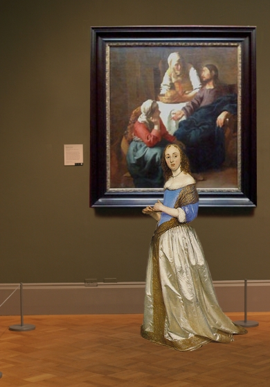 Johannes Vermeer's Christ in the House of Martha and Mary in scale