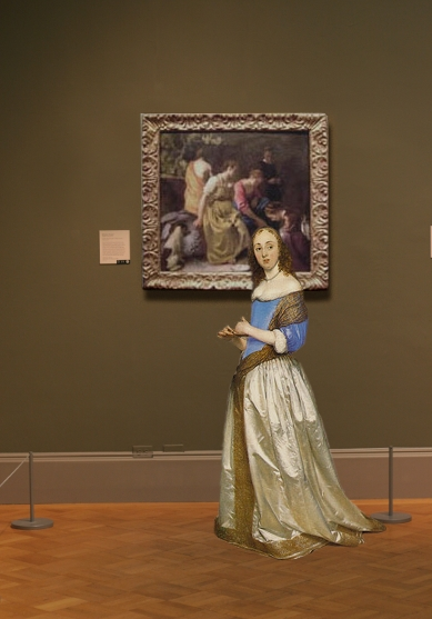 Johannes Vermeer's Diana and her Companions in scale
