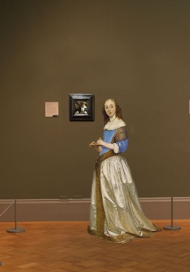 Girl with a Flute by Johannes Vermeer in scale