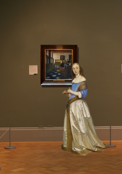 Johannes Vermeer's Music Lesson in scale