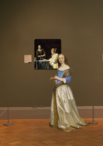 Johannes Vermeer's Mistress and Maid in scale