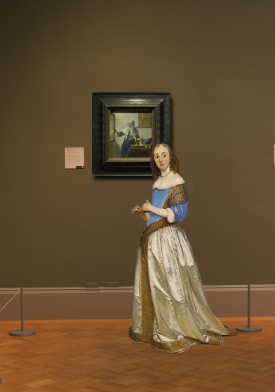 Johannes Vermeer's Young Woman with a Water Pitcher in sscale