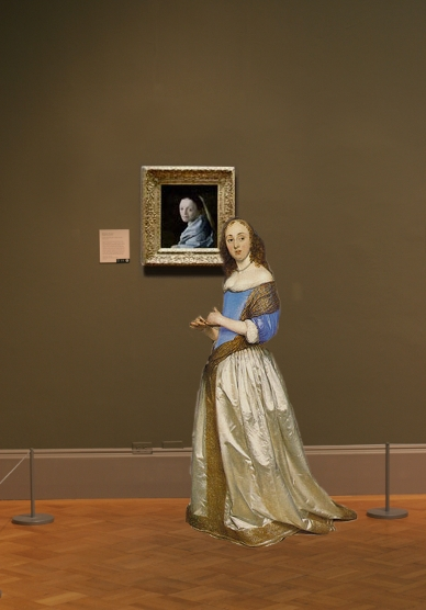 Johannes Vermeer's Study of a Young Woman in scale