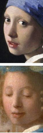 Details of Johannes Vermeer's Art of Painting and Girl with a Pearl Earring