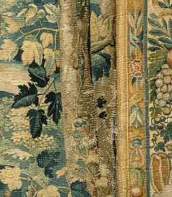 A detail from a tapestry from the workshop of François Spierincx Spiering