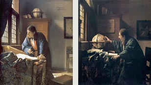 Johannes Vermeer's Geographer and Asronomer