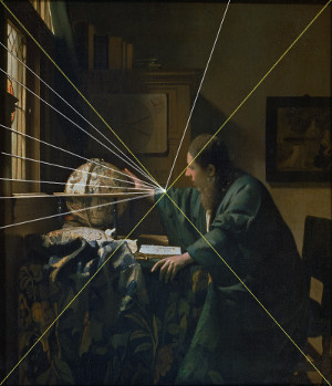 The Astronomer (diagram), Johannes Vermeer