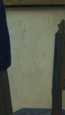 Woman in Bue Reading a Letter (detail), Johannes Vermeer