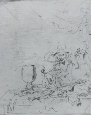 A drawing by Leonaert Bramer