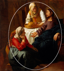 Christ in the House of Martha and Mary (diagram), Johannes Vermeer