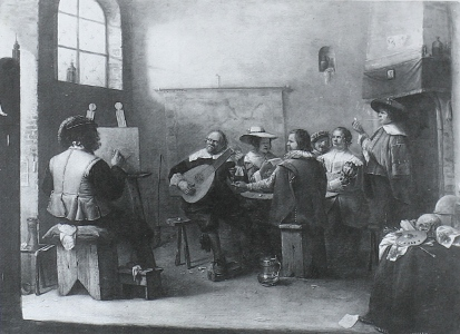 An Artist Painting the