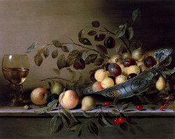Still Life with Fruit in a Wan-Li Bow and a Roemer, Gillis Gillisz. de Berg