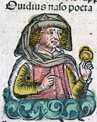 Ovid as imagined in the Nuremberg Chronicle, 1493