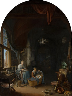 The Young Mother, Gerrit Dou