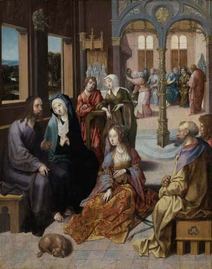 Christ's Second Visit to the House of Martha and Mary, Cornelis Engelbrechtsz