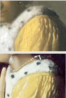 A Lady Writing (detail), Johannes Vermeer