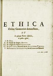 Ethica, Baruch Spinoza