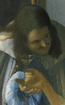 Topic, the girl with the wine glass
