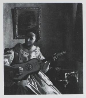 Girl with a Guitar, Unknown author