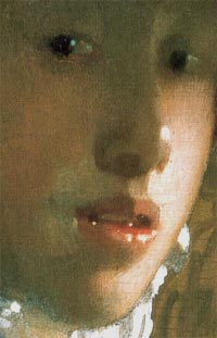 Girl with a Red Hat (detail), Johannes Vermeer