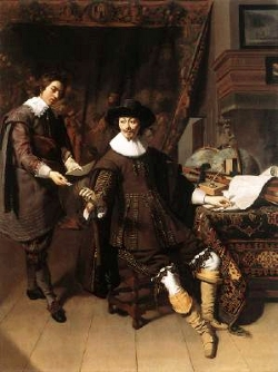 Constantijn Huygens and his Clerk, Thomas de Keyser