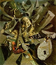 The Paranoiac-Critical Study of Vermeer's Lacemaker, Salvador Dali