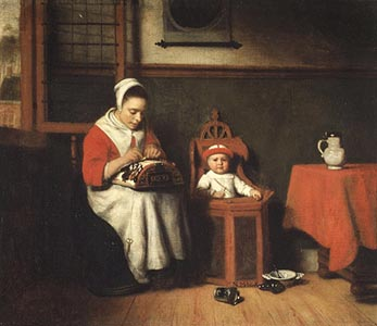 The Lacemaker, Nicolaes Maes