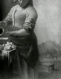 The Milkmaid (detail X Radiograph), Johannes Vermeer