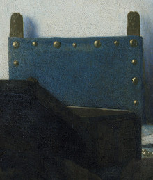 WOman in Bkue Reading a Letter (detail), Johannes Vermeer
