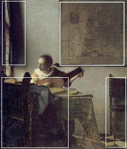 Woman with a Lute (diagram), Johannes Vermeer