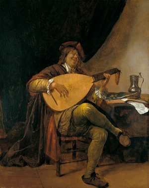 Self-Portrait as a Lutenist, Jan Steen