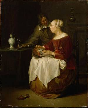 The Lacemaker, Gabriel Metsu