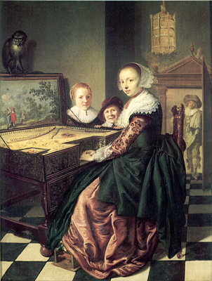 Interior with a Lady at the Virginals, Jan Miense Molenaer