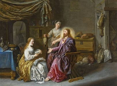 Christ in the House of Mary and Martha, Jan Miense Molenaer