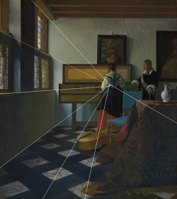 Image result for perspective painting vermeer
