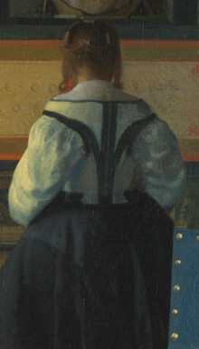 The Music Lesson (detail), Johannes Vermeer