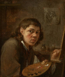 Gillis van Tilborgh, Self Portrait in the Studio