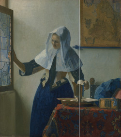 Young Woman with a Water Pitcher (diagram), Johannes Vermeer