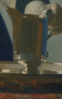 Young Woman with a Water Pitcher (detail), Johannes Vermeer