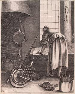 A Woman Cleaning, Geertruydt Roghman