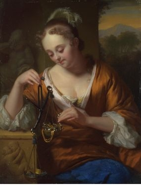 Allegory of Virtue and Riches, Godfried Schalcken